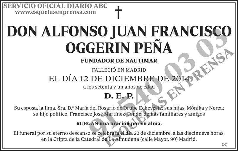 Alfonso Juan Francisco Oggerin Peña
